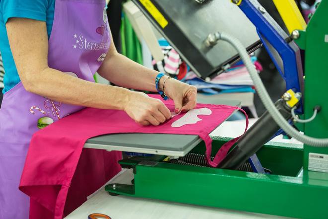 Individualisierte Kleidung und Textilien sind jedes Jahr ein Renner auf der Messe!