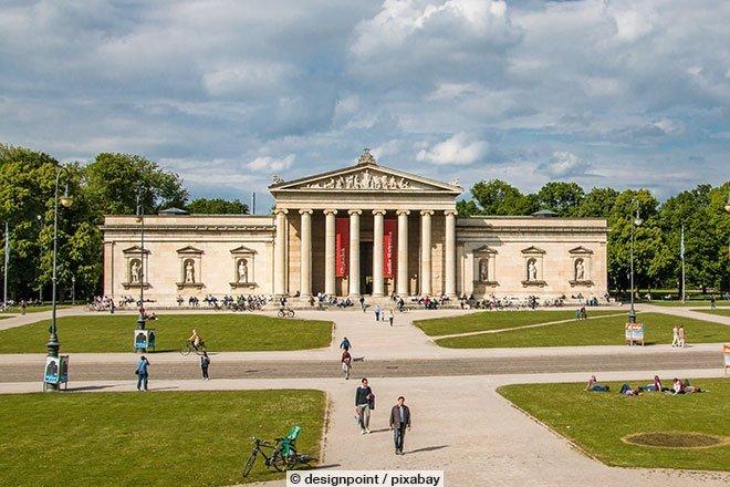 Die Glyptothek in München