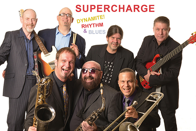 Foto der Bandmitglieder von Supercharge.