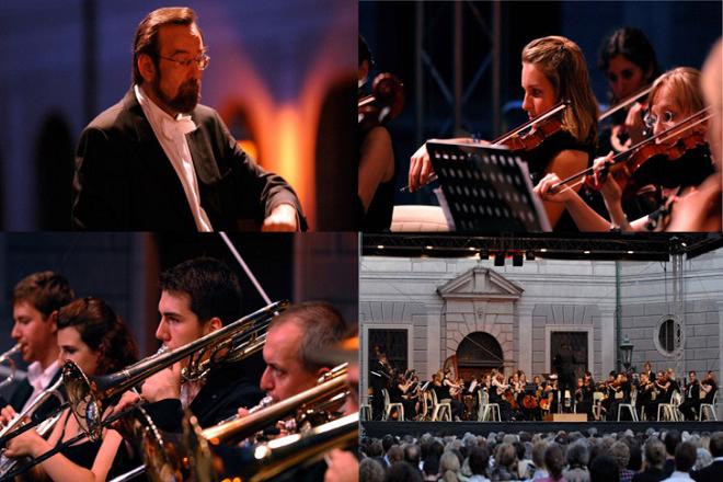 Foto-Collage des Orchester der jungen Münchner Symphoniker 2019