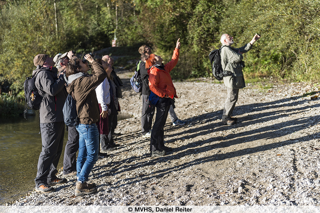 Fotografie eine Gruppe von Leuten draußen im Grünen.
