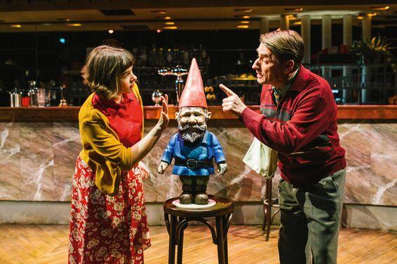 Produktionsfoto: Zwei Schauspieler des Musicals Die Fabelhafte Welt der Amélie.